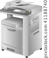 Copier · FAX composite printer (copier) vector 41188740
