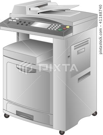 Copier · FAX composite printer (copier) vector 41188740