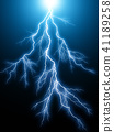 Blue lightning arc electric discharge 41189258