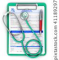 prescription pad stethoscope 41189297