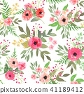 watercolor, seamless, pattern 41189412