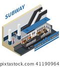 Subway Isometric Composition 41190964