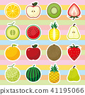 Fruit icon set 41195066