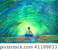 chakra human lotus pose yoga tree forest tunnel 41199633