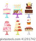 set of cakes 41201742