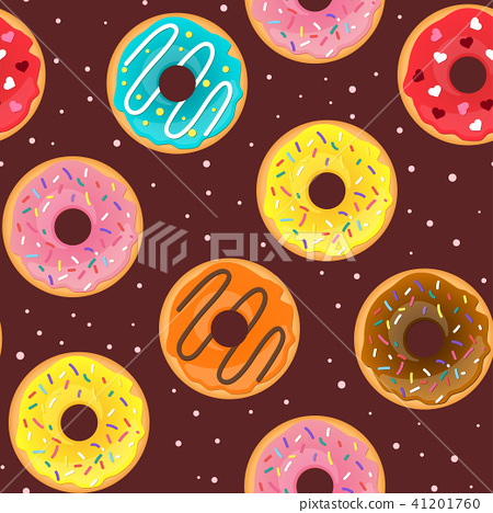 seamless pattern with tasty doughnuts 41201760