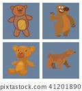 Bear animal vector mammal teddy grizzly funny happy cartoon predator cute character illustration. 41201890