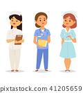 Doctor nurse character vector medical woman staff flat design hospital team people doctorate 41205659
