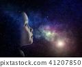 night, sky, girl 41207850