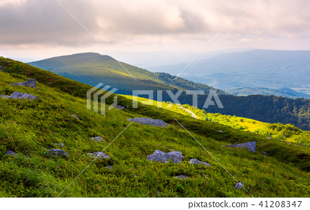 grassy slopes of Runa mountain in the morning 41208347