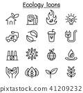 Ecology & Sustainable lifestyle icon set 41209232
