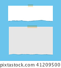 Blank squared notepad pages and tape. 41209500