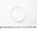 Empty white dinner plate over white background 41209566