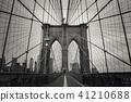 a magnificent  view of Brooklyn Bridge 41210688