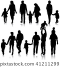 family, silhouette, child 41211299