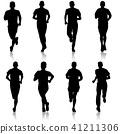 runner, set, vector 41211306
