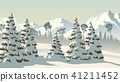 forest, winter, mountains 41211452