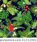 Tropical Birds and Plants Pattern 41212002
