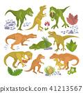 dinosaur tyrannosaurus vector 41213567