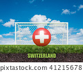 Switzerlandk football  on football or soccer field 41215678