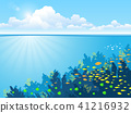 Ocean underwater world with animals 41216932