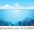 Ocean underwater world with animals 41216966