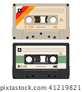 2 Cassettes with retro label as vintage object 41219821