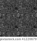 Music Dark Line Seamless Pattern 41220679