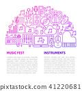Music Fest Line Template 41220681