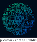 music, icon, vector 41220689