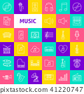 Vector Music Line Icons 41220747
