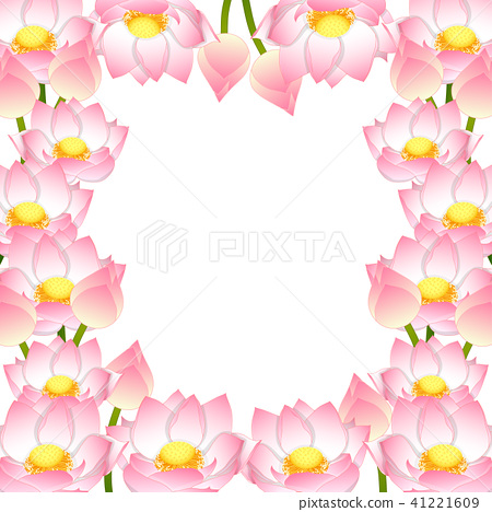 Indian Lotus Border 41221609