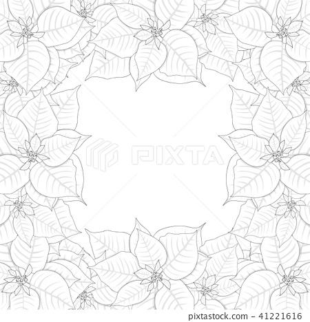 Poinsettia Outline Border 41221616