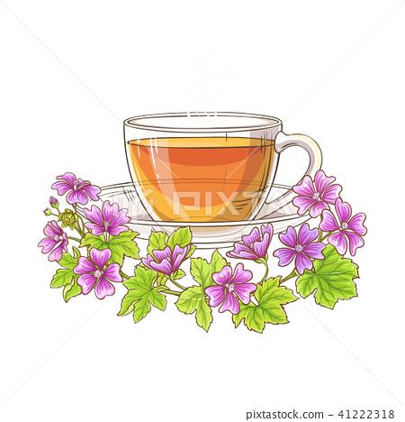 malva tea illustration 41222318
