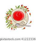 goji tea  illustration 41222336