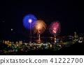 (静冈县)热海的夜景100万美元和海上烟花 41222700