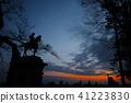 早晨日出和仙台市的日出雕象 41223830