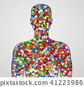 silhouette of a male human filled with drugs  41223986