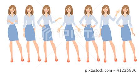 business woman set 41225930