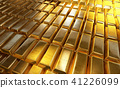 Stacked gold bars or bullions with reflections 41226099