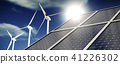 Solar panels or collectors and wind turbines 41226302