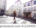 girl is walks around Montmartre 41226404