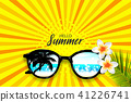Summer time sunglasses halftone pop art 41226741