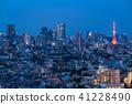 """""""東京""""東京塔和城市夜景 41228490"""