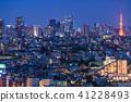 """""""東京""""東京塔和城市夜景 41228493"""