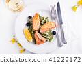 dish, food, salmon 41229172
