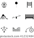amusement park icon set 41232484
