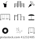 amusement park icon set 41232485