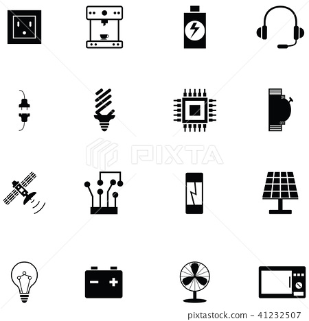 electric icon set 41232507