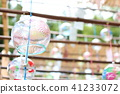 summer, wind chime, wind bell 41233072